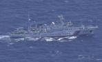 中国海警编队在钓鱼岛领海巡航