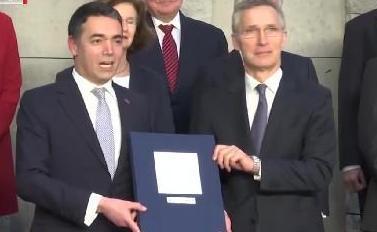 """北约与马其顿签署""""入约""""议定书"""
