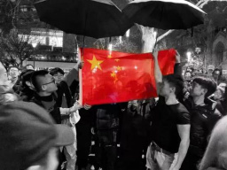 """多地华人举行""""爱国护港""""和平集会 雄壮国歌唱响全球!"""
