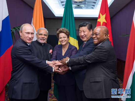 资料图片:2014年11月15日,金砖国家领导人非正式会晤在澳大利亚图片