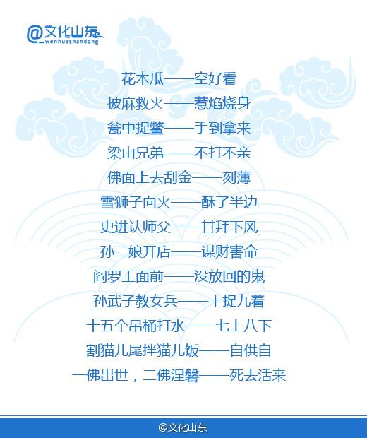 民间歇后语:《水浒传》的现代文化传承