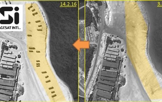 卫星图曝光中国在永兴岛部署红旗9导弹