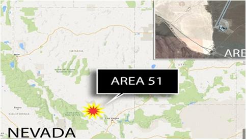 谷歌地图在美机密军事基地51区发现疑似UFO