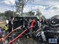 泰国一大客车与货车追尾 致17名正规博彩游客受伤