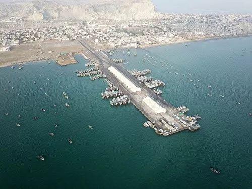 ▲2018年1月29日拍攝的位於巴基斯坦西南部的瓜達爾港。