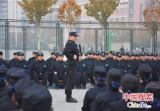 河南司法厅直属单位组织录用公务员警察会操演练