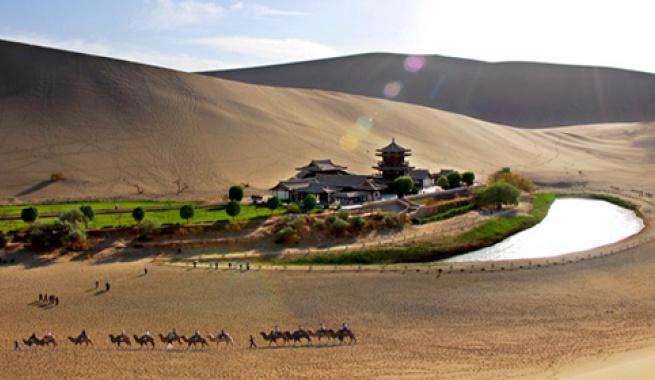 鸣沙山月牙泉——沙漠奇观  敦煌八景