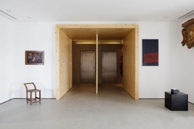 棕色地板配沙发效果图红地板黑沙发图片9