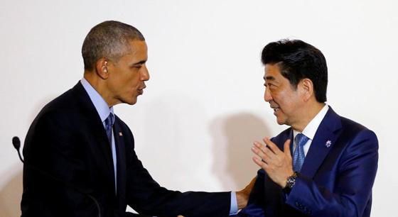 安倍与奥巴马举行会晤 对冲绳弃尸案表愤怒