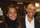 超赞!奥巴马带女儿看话剧 与后台演员谈笑风生