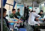 临床用血居高不下 青岛消防战士献血救急(图)