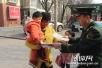 石家庄裕华消防大队宣传车进社区 教育宣传入基层