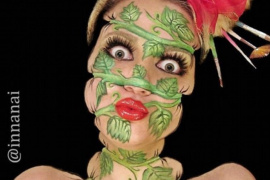 视觉挑战!克罗地亚化妆师诡异妆容惊悚无比
