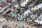 飓风肆虐后的海岛