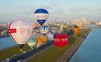 伦敦机场放飞热气球