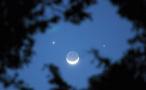 今明可赏双星伴月