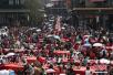 中国各地以集体婚礼、百岁寿宴等多种方式庆重阳