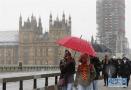 伦敦迎降雪