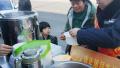 天寒地冻!济南高速站送碗甜沫暖暖心