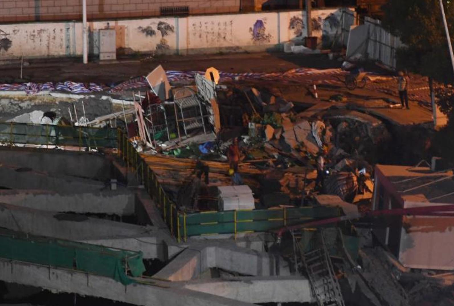 直击|浙江杭州2处道路发生沉降 面积约百平方米