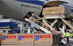 法国运送口罩飞行员在中国确诊,1600万个口罩滞留上海
