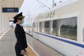 郏县高铁站做好准备 迎接五一假期客流