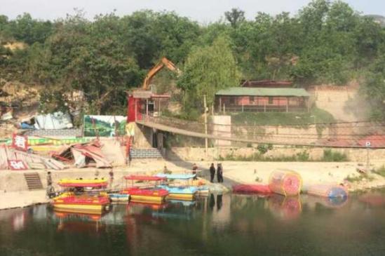 为保水源地 济南门牙景区上游17家农家乐拆除