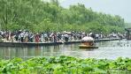 """杭州西湖迎来端午旅游高峰 """"人海""""模式再度开启"""