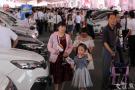 小長假首日 十萬市民涌入南京奧體車展