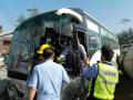 锦州3车相撞水泥搅拌车侧翻 事故造成1死2伤
