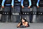 洪都拉斯抗议现场