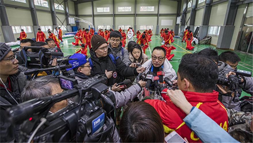 """韩国 """"北京八分钟""""进行首次闭幕式联排"""