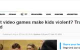 研究表明:八成校园枪击案凶手对暴力游戏并无兴趣