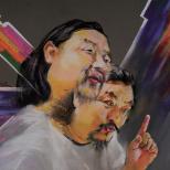 南征粉画肖像作品