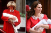 凯特王妃产后抱小王子亮相的方式 是不小心重复了历史还是致敬戴安娜王妃?