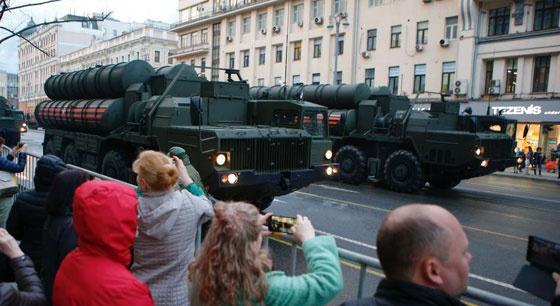 俄罗斯胜利日阅兵彩排在莫斯科举行