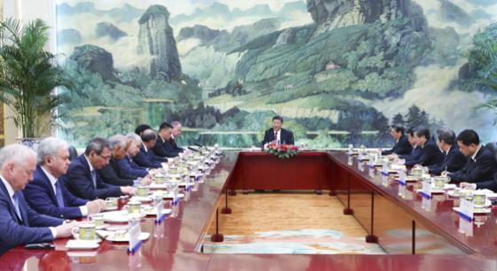 习近平会见上合成员国外方代表团团长