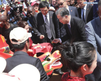 Wang Yang attends dragon boat racing opening ceremony in Uganda