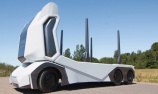 世界首款无人木材运输卡车