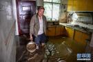 洪水过后的四川村庄