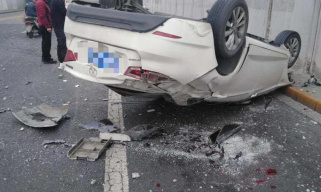今日?#26412;?#20108;环?#26041;?#36830;发生车祸 提醒:驾车出行注意安全