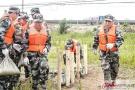 徐州丰县举行防汛抢险演练活动