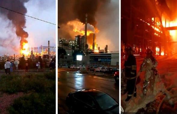 中石油大连石化分公司大火已扑灭 现场未发现人员伤亡
