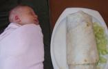 细思极恐!跟婴儿一样大的卷饼……