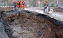 杭州西溪河堤塌方