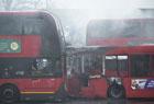 伦敦公交站发生火灾